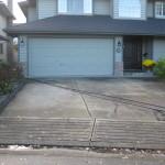 Concrete Driveway & Garage Door 1
